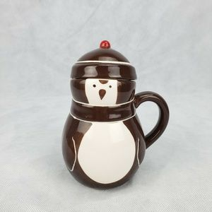 Penguin Ceramic Coffee Mug w/ Lid Design Studio Br
